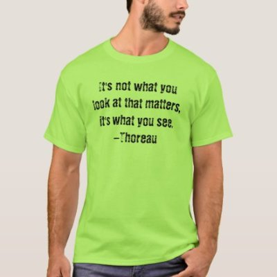 It's not what you look at that matters Thoreau Mens Tee
