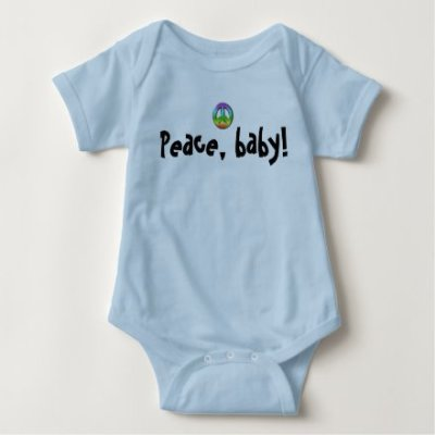Peace, baby! One-piece