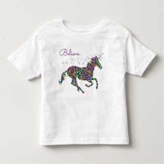 Believe Unicorn Toddler Tee